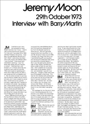Interview with Barry Martin